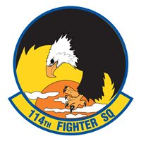114 FS F-15 Airplane Tail Flash