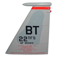 22 TFS F-15 Airplane Tail Flash