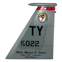 1 FS F-15 Airplane Tail Flash