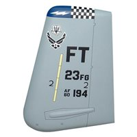 23 FG A-10 Airplane Tail Flash