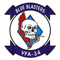 VFA-34 F/A-18 Airplane Tail Flash