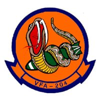 VFA-204 F/A-18 Airplane Tail Flash