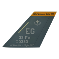 33 FW F-35 Airplane Tail Flash