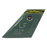 56 FW F-35 Airplane Tail Flash