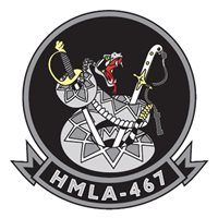 HMLA-467 UH-1 Custom Airplane Model Briefing Stick