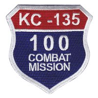 KC-135 100 Missions Patch