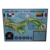 HSL-49 DET 5 Deployment Plaque
