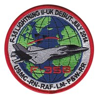 VMFAT-501 UK F-35 Debut Patch
