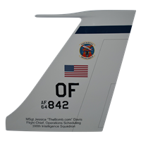 390 IS RC-135 Airplane Tail Flash