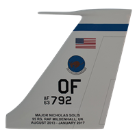95 RS RC-135 Airplane Tail Flash