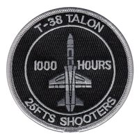 25 FTS T-38 1000 Hours Patch