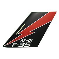 AF-01 F-35 Airplane Tail Flash
