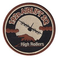 192 AS High Rollers Desert (4.5 inch) Patch