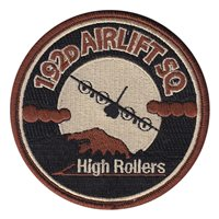 192 AS High Rollers Desert (3.5 inch) Patch