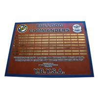 525 FS  Bulldog Commanders Deployment Plaque