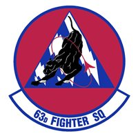 63 FS F-35 Airplane Tail Flash