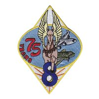 8 AS 75th Anniversary Patch