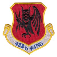 432 WG Color Evil Owl Patch