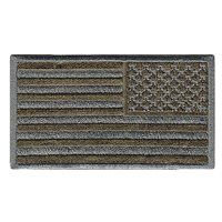 USA Flag Subdued Reverse Olive Drab Patch