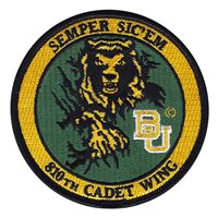 AFROTC Det 810 Baylor University Cadet Wing Patch