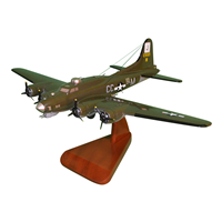 570 BS B-17G Flying Fortress Custom Airplane Model
