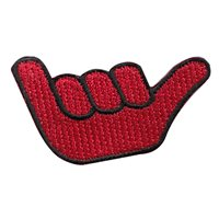 535 AS Hang Loose Red Pencil Patch