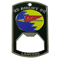 2 AS Custom Bottle Opener Air Force Challenge Coin