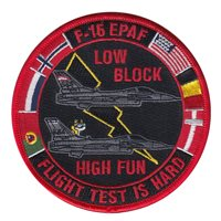 416 FLTS F-16 EPAF Flight Test Patch