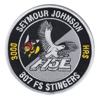 307 FS Stingers F-15E 3000 Hours Patch