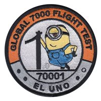 Bombardier Aerospace Global 7000 Flight Test El Uno Patch