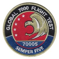 Bombardier Aerospace Global 7000 Flight Test Semper Five Patch