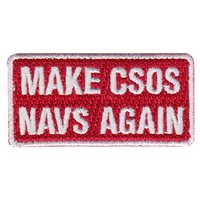 451 FTS COS Make CSOS Navs Again Pencil Patch