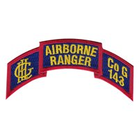 143 INF Airborne Ranger Tab Patch