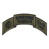 143 Inf Airborne Ranger Tab OCP Patch