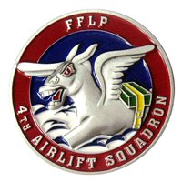 4 AS Fightin Fourth Challenge Coin