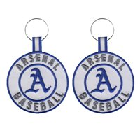 Arsenal Baseball Team Key Chain