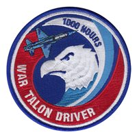 T-38 1000 Hour War Talon Driver Patch