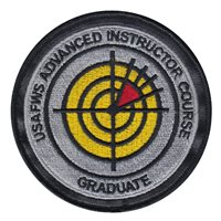 USAFWS AIC Instructor Patch with Leather