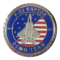 F-22 Demo Team 2020 Silver Challenge Coin