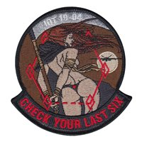 Holloman AFB IQT Class 19-04 Check Last Six Patch