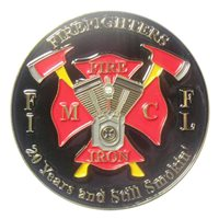 Fire and Iron Motorcycle Club Challenge Coin