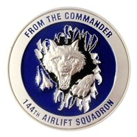 144 AS Commander Challenge Coin