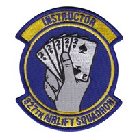 327 AS Instructor Patch