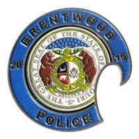 Brentwood Police Department Bottle Opener Challenge Coin