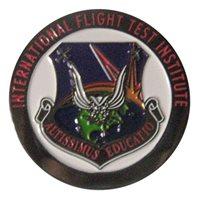 Flight Research Inc Blue challenge coin