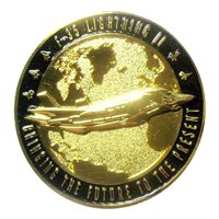 LM F-35 Shiny Gold Black Challenge Coin