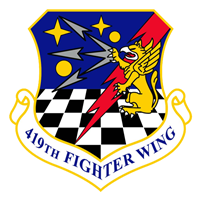 419 FW F-35A Airplane Tail Flash