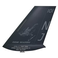 VFA-101 F-35C Airplane Tail Flash