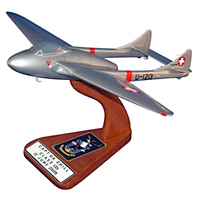 Swiss Air Force De Havilland Vampire Custom Airplane Model
