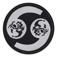 69 EBS Yin Yang Black and White Skulls Patch